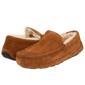 🔥New Ugg Ascot Chestnut slippers FATHER'S DAYGIFT